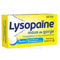 LysopaÏne Comprimés à Sucer Maux De Gorge Sans Sucre 2t/18 à Hayange