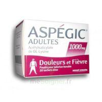 Aspegic Adultes 1000 Mg, Poudre Pour Solution Buvable En Sachet-dose 20 à Hayange