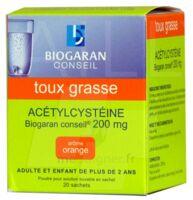 Acetylcysteine Biogaran Conseil 200 Mg Pdr Sol Buv En Sachet B/20 à Hayange
