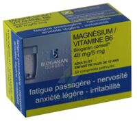 Magnesium/vitamine B6 Biogaran Conseil 48 Mg/5 Mg, Comprimé Pelliculé à Hayange