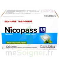 Nicopass 1,5 Mg Pastille Sans Sucre Menthe Fraîcheur Plq/96 à Hayange