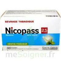 Nicopass 2,5 Mg Pastille Menthe Fraîcheur Sans Sucre Plq/96 à Hayange