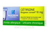 Cetirizine Biogaran Conseil 10 Mg, Comprimé Pelliculé Sécable à Hayange